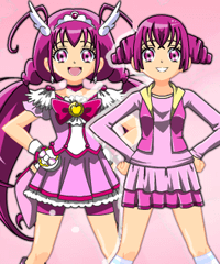 play Glitter Force Emily Dress Up Game