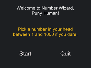 Number Wizard game