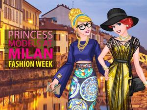 play Princess Models At Milan Fashion Week