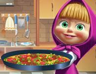 Masha Cooking Tortilla Pizza game