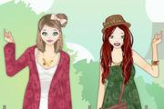 Boho Chic Sisters Dress Up game