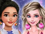 Princesses Pom Poms Fashion game