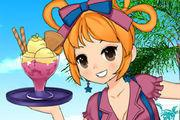 Summer Waitress Dressup game