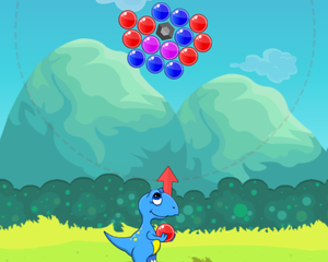 Dino Bubbles game