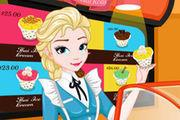 Elsa'S Ice Cream Rolls Girl game