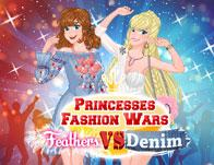 Princesses Fashion Wars Feathers Vs Denim game