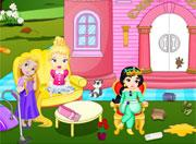 Little Princesses Castle Cleaning game