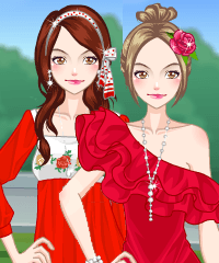 play Pretty Girl In Red Dress Up Game