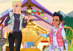 Glamping Friends Dress Up game