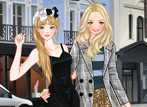 play Holiday Shopping Dress Up