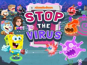 Nickelodeon: Stop The Virus Action game