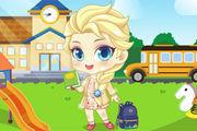 Baby Elsa Back To School Girl game