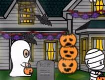 Halloween House Decorator game