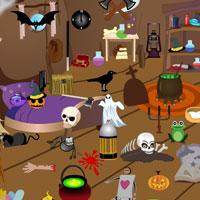 play Scary-Halloween-Room-Objects