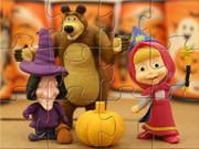 play Masha And The Bear Halloween Party