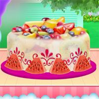 play Fruity Ice Cream Cake Cooking