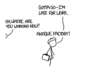 Xkcd-Antique Factory game