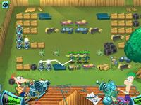 Phineas And Ferb Backyard Defence game
