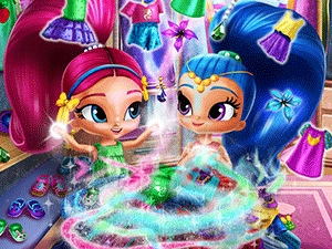 Shimmer And Shine Wardrobe Cleaning game