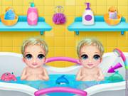 New Born Twins Caring game