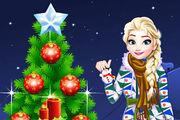 play Frozen Christmas Tree Girl