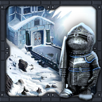 play The Frozen Sleigh-Creepy Castle Escape