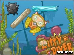 play Kitty Diver Game Online Free