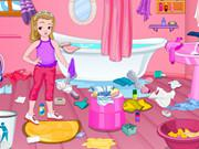 play Little Girl Bathroom Cleaning