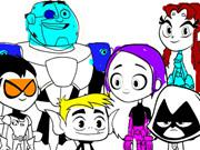 Teen Titans Go Coloring Book game