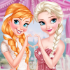 play Anna And Elsa Glittery Bridesmaids!