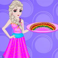 play Elsa-Cooking-Rainbow-Pizza