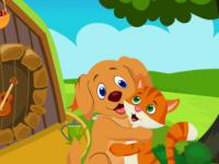 play Cute Dog And Cat Embracing Escape
