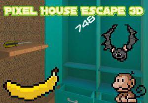 play Pixel House Escape 3D