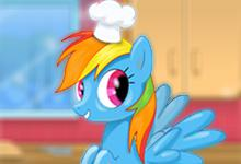 Rainbow Dash Cooking M M Cake game
