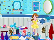 play Little Princess Bathroom Cleaning