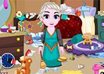 play Baby Elsa Room Cleaning