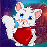 Lovely Heart Cat Escape game