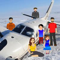 play Plane Crash In Snow Escape