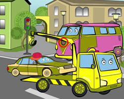 Kids Trucks Differences game
