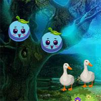 play Games4King-Cute-Girl-Escape-From-Forest-House