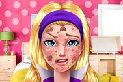 play Barbie Hero Face Problem Girl