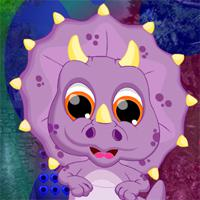 play Games4King Dino Ugly Creature Escape