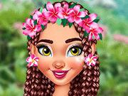 Moana Stylish Tropical Flowers game