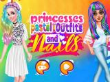 Princesses Pastel Outfits And Nails game