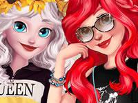Ariel And Elsa Instagram Famous game