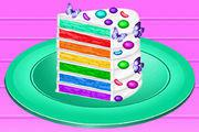 play Vincy Cooking Rainbow Birthday Cake