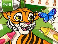 Color Me Jungle Animals game