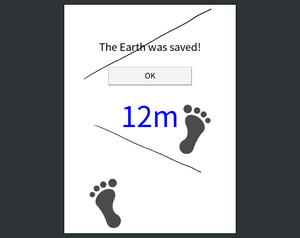 If You Can Walk Without Stepping On The Line,The Earth Will Be Saved!