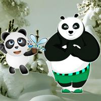 play G2R Panda Snow Forest Escape