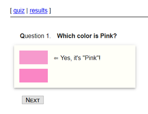 play Test Your Knowledge Of Pink
